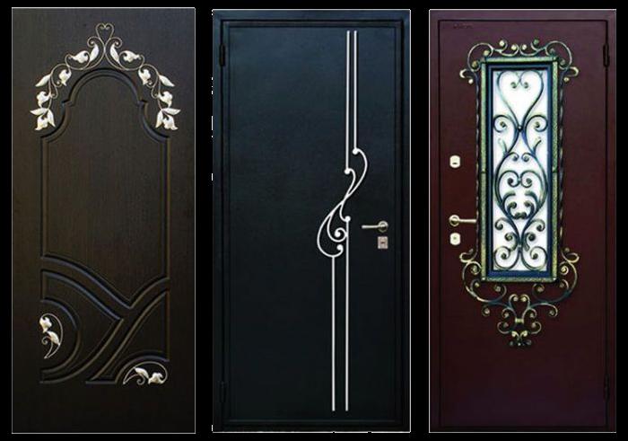 красивые металлические двери входные